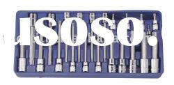 "24 Pieces 3/8"" & 1/2"" Dr. Tamperproof Star Bit Socket Set-Tool Tray Kit"