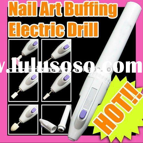 2 AA Battery Operated Nail Art Electric Manicure Pedicure Nail Drill File