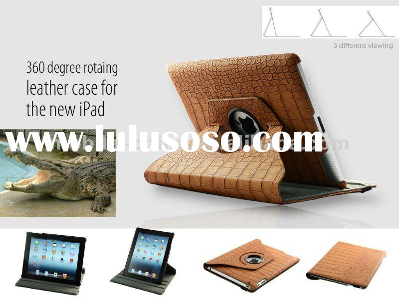 360 degree rotary case ,Leather case for ipad, Smart cover, cover case for ipad . caver case