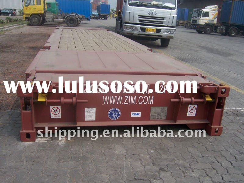 40' FLAT RACK CONTAINER SPECIAL CONTAINER TRANSPORTATION SHENZHEN TO LOS ANGELES