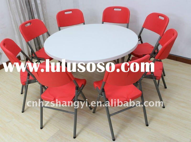 48'' portable folding restaurant table and chair set