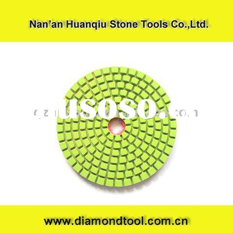 "4"" Wet Diamond Polishing Pad Set (8pcs+1) for Granite, Concrete, Stone Polishing"