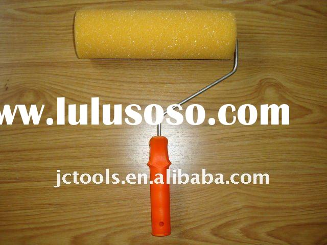 "7"" yellow spong paint Roller Cover brush with plastic handle"