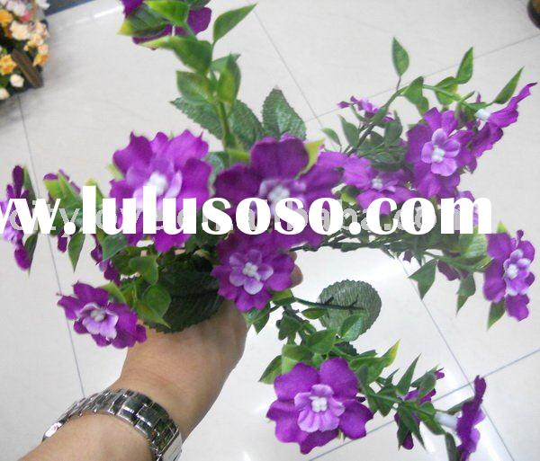 Artificial flower/artificial plant--Orchid artificial silk flower purple