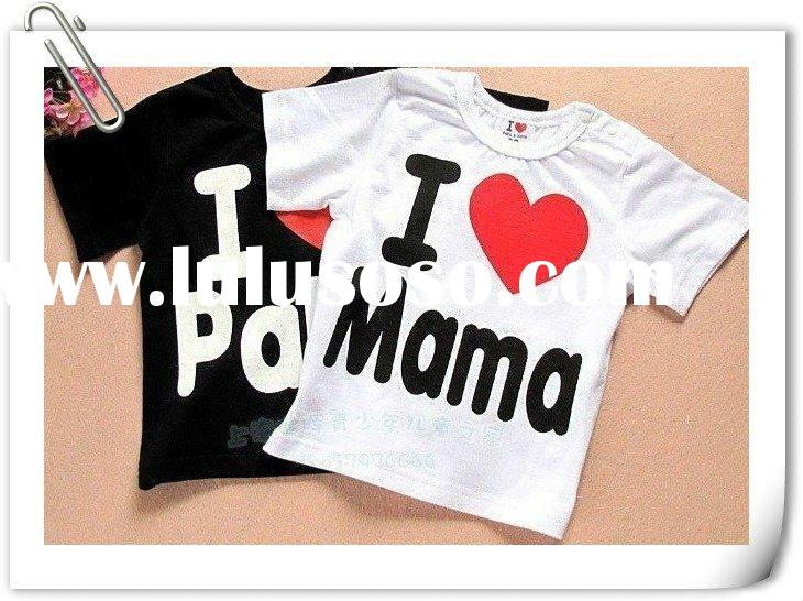 Baby clothes, i love papa mama baby shirt/T-Shirt boy & girl short-Sleeve Shirt,Infants & To