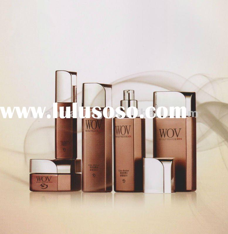 Brown glass cosmetic container (cream jars & lotion bottles)