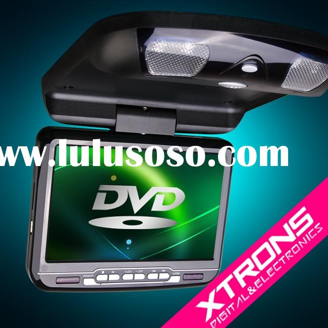 "CR903: 9"" car roof mount dvd player with built-in IR Transmitter"