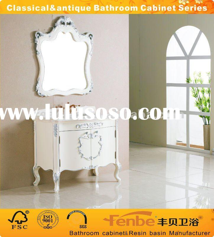 Classical&antique bathroom cabinet with natural premium marble top
