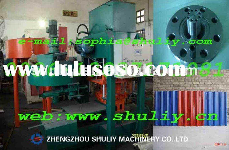 Colored tile making machine/colored roof tile forming machine/colored cement tile making machin(0086