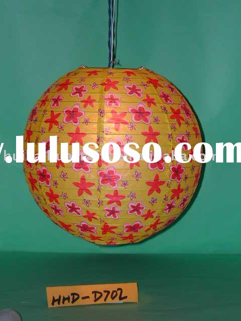 Colorful flower design paper lantern for home decoration