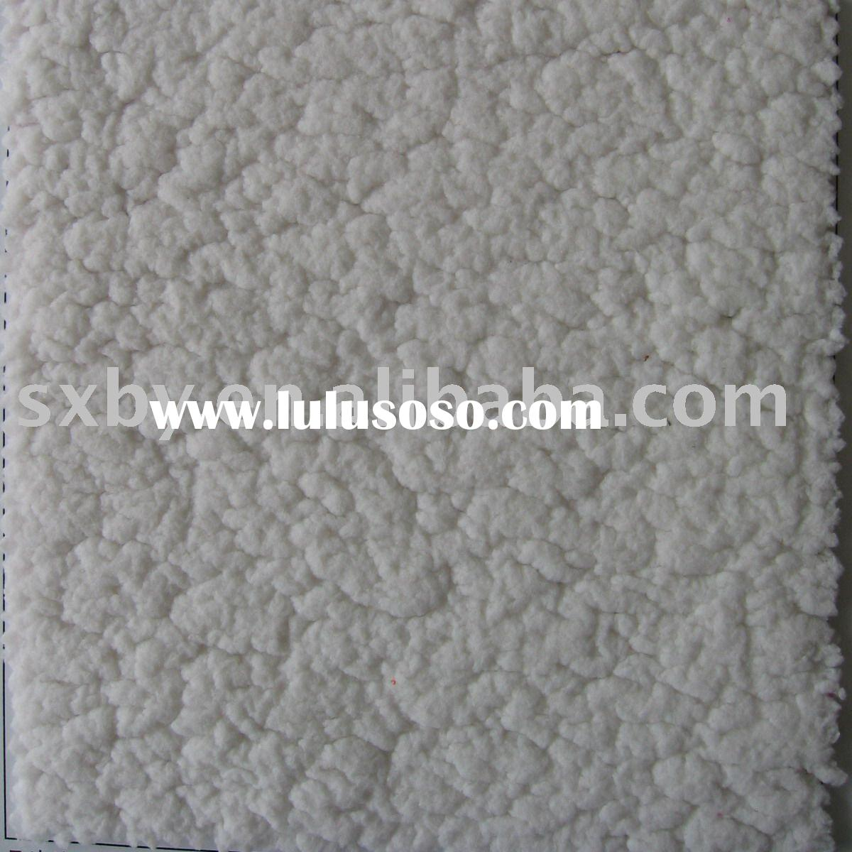 Cotton fleece fabric bonding with polar fleece fabric
