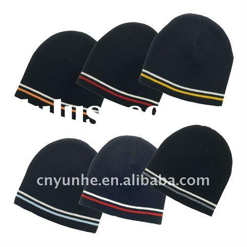 Double Stripe Beanie hat cap ----- Factory Directly