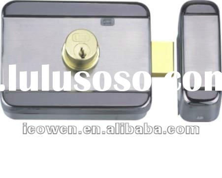 Electric rim lock,Mute motor door lock for access control