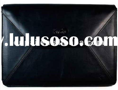 Envelope Leather Carry Case Bag Black for 10 inch Laptop Notebook