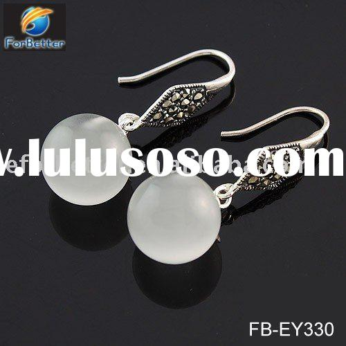 Fashion Jewelry.Hot Selling fashion 925 silver white stone earrings. FB-EY330
