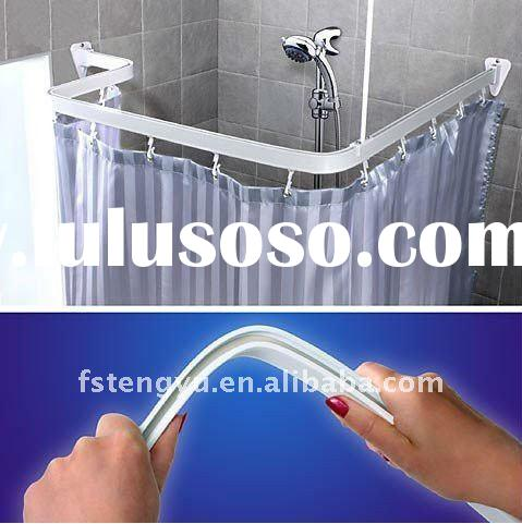 Flexible curtain track,bathroom curtain track