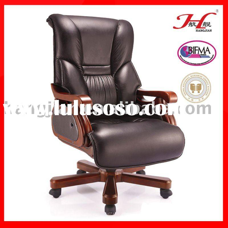 Hangjian A024A Antique Wood Office Chair