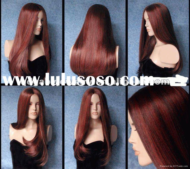 Indian hair silky straight wave full lace human hair wig