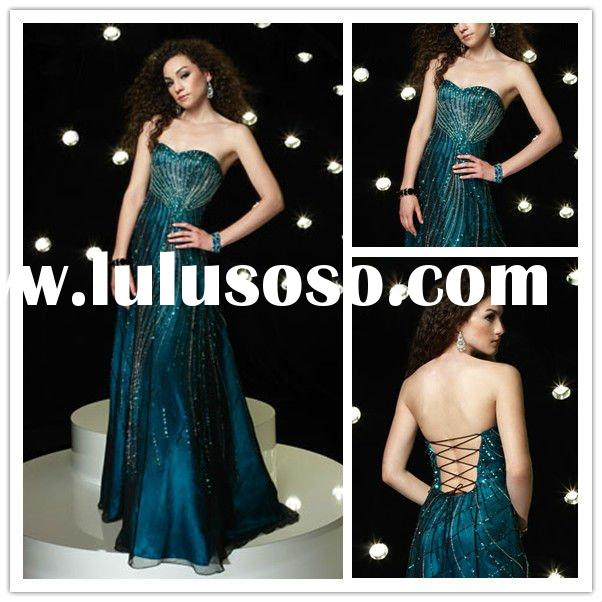 Inexpensive Cheap Strapless Prom Dresses Sheath Tulle women's evening dresses