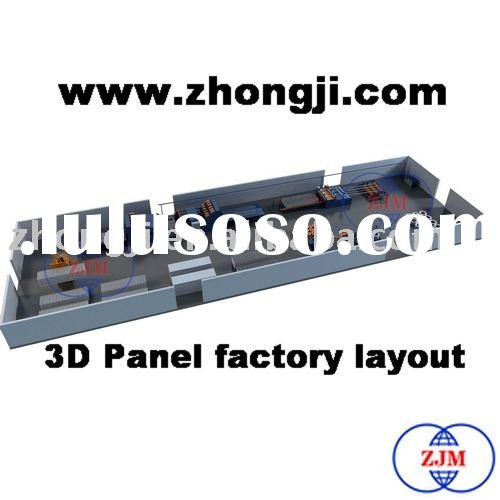 International Advanced Technology 3D Panel Production Line