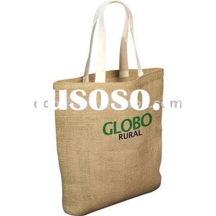 Jute Bags with cotton webbing handles SHO-068