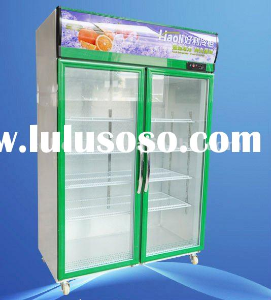 LSC-1200L Hollow Glass Door Upright Display Refrigerated Showcases