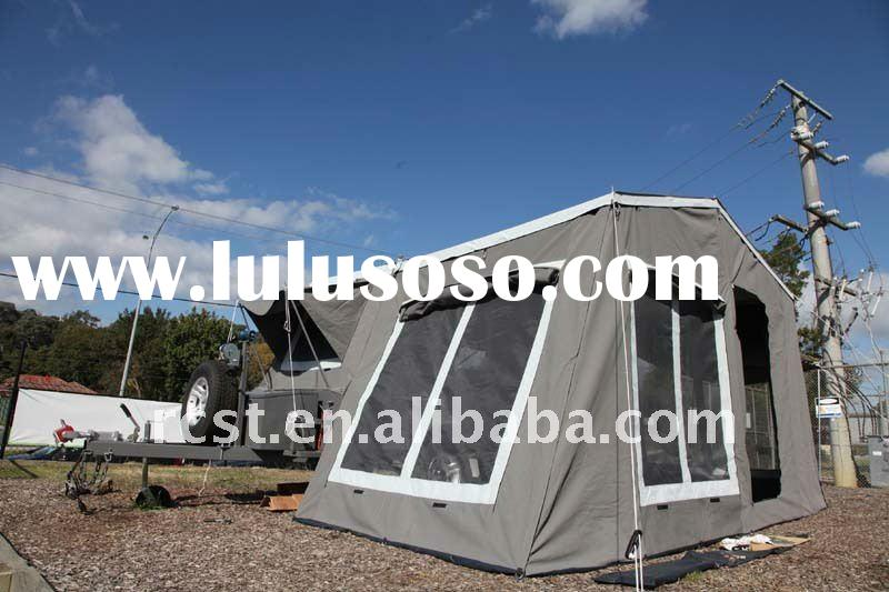 LUXURY off road hard floor camper trailer with high quality canvas tent for family camping