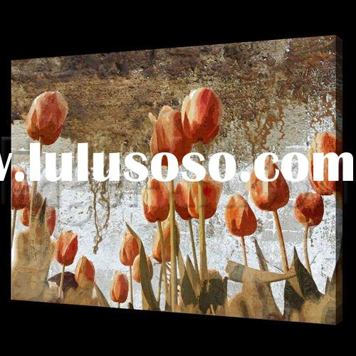 Latest decorative Oil painting abstract flower
