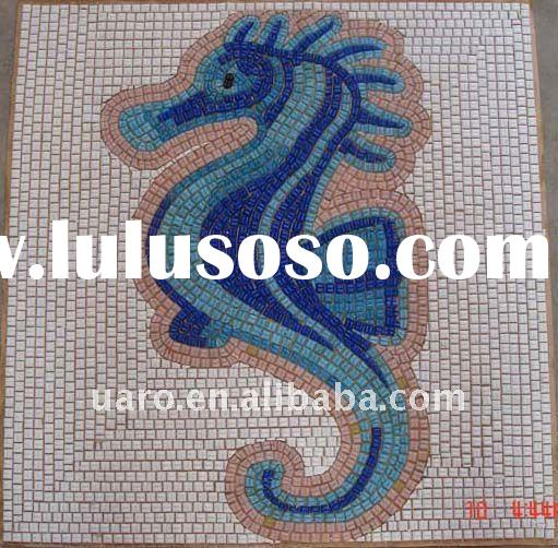 Morden design glass mosaic hand made art and craft pattern