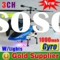 New 37CM 3CH Alloy Gyro radilo remote control helicopter rc airplane plane rc toy HQ859