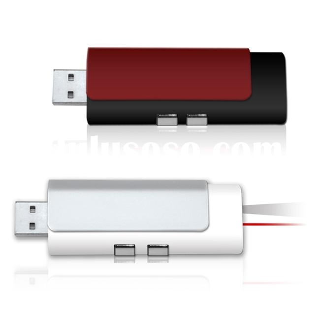 Slide USB flash drive with laser pointer and torch
