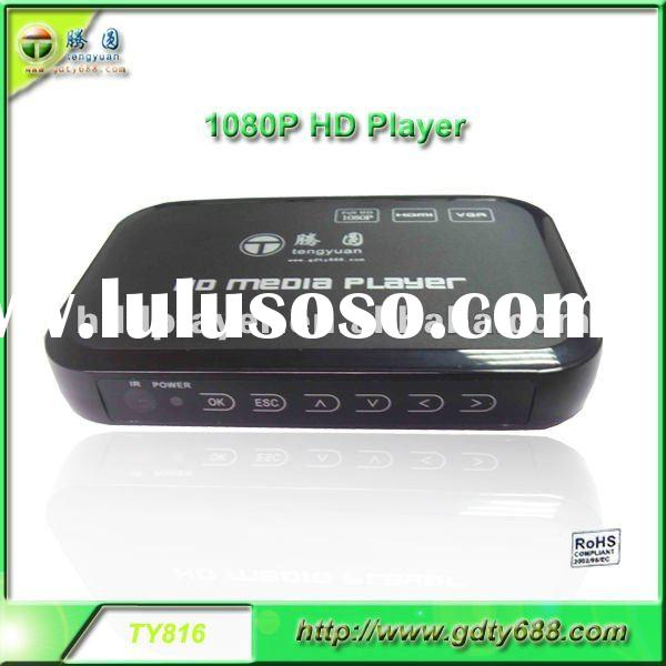 TY816 1080P mini full hd hdd media player with HDMI with vga