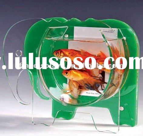 Tabletop Acrylic Fish Bowl/Tank/Aquarium with Photo Frame (HF-A-0202)
