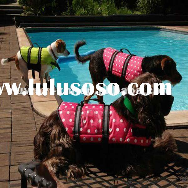 UW-DLJ-012 2012 New Fashionable design,pink nylon dog vest life jacket with dot,dog safety vest