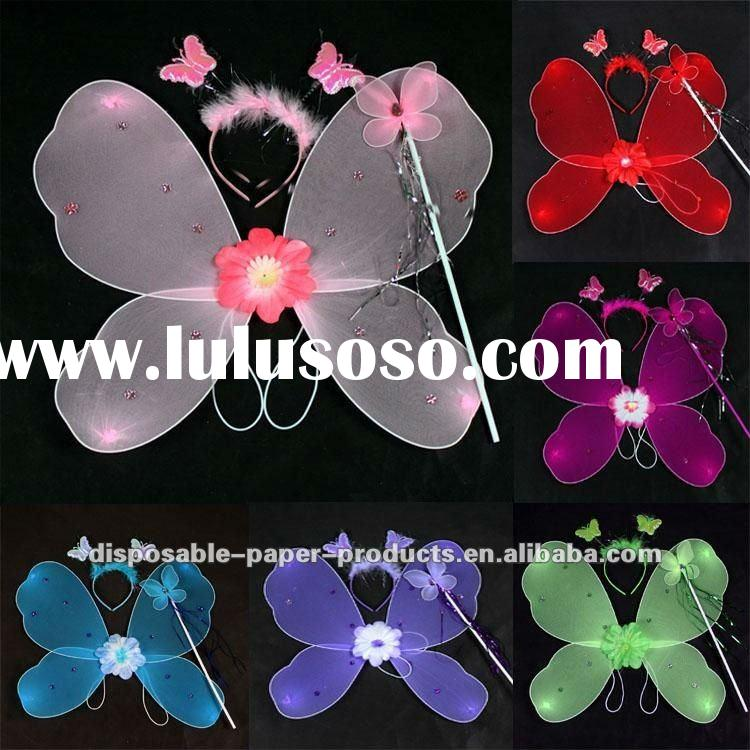 Wholesale 50 Little Girls BUTTERFLY Fairy WINGS DRESS UP Kids Photography Costume photo Prop, Free S