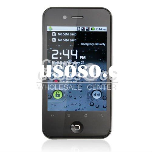 accept paypal WIFI TV Dual sim card Capacitance screen Unlocked google android 2.2 mobile phone smar
