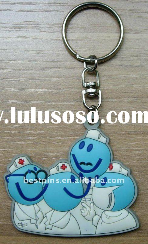 cartoon nurse soft PVC key chain ( BS-JL-PKC-11102)