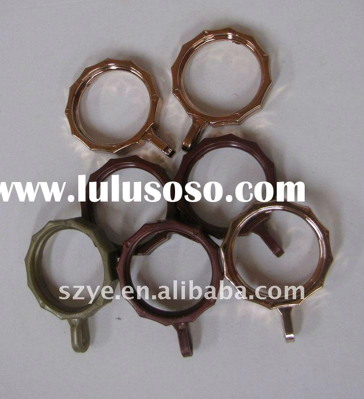 colorful curtain rod accessories decoration plastic rings