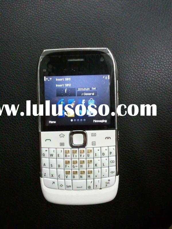 dual sim qwerty touch mobile phone E6