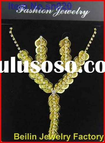 fashion and luxurious designed necklace and earrings give you the best feeling of yourself