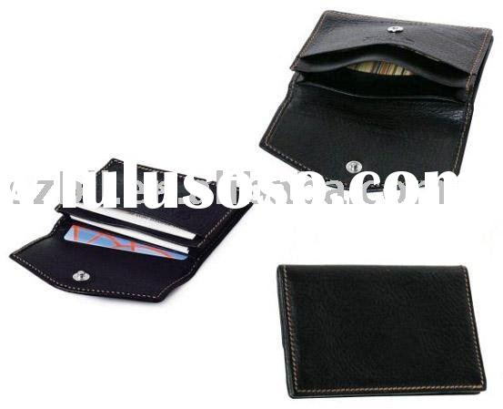 fashion business card holder case 50pcs leather cards holder
