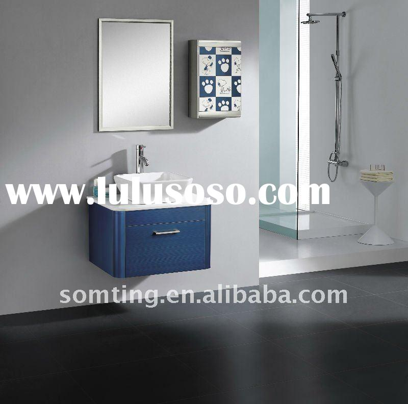 hotel style wall mounted vanity with mirror