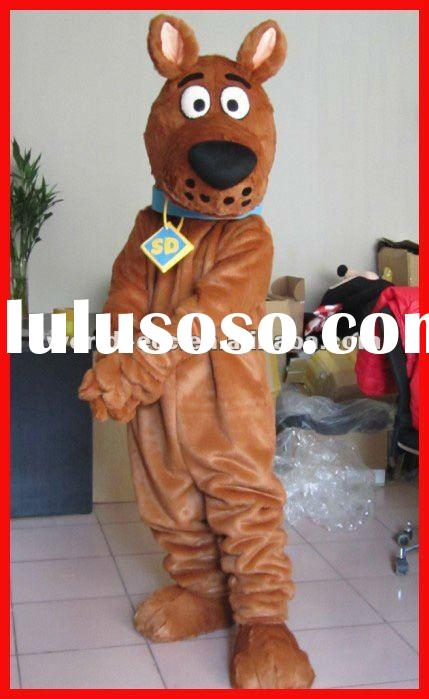 lovely scooby dog plush mascot costumes adult dog costumes