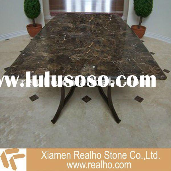 marble stone top dining table
