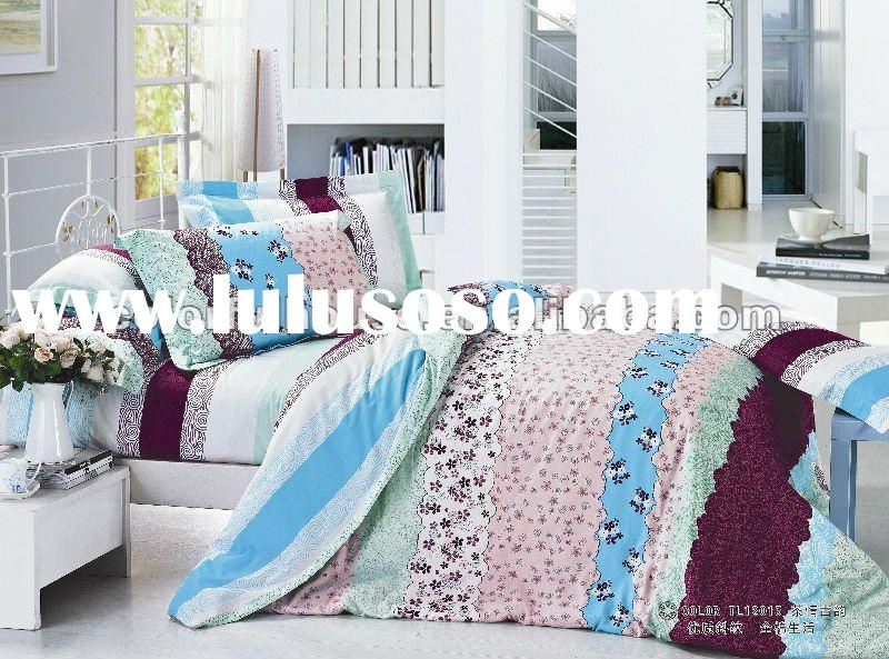 new design pigment printing bed sheet/quilt cover/bedspread fabric