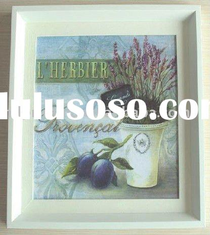 oil paintings with brush stroke framed canvas