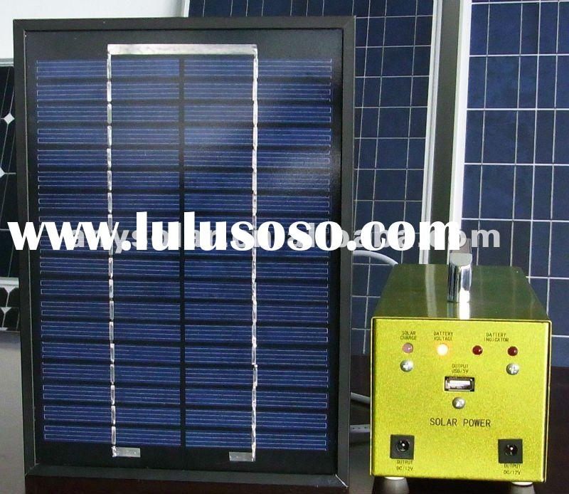 original manufacturer of 10W portable small solar system for home lighting