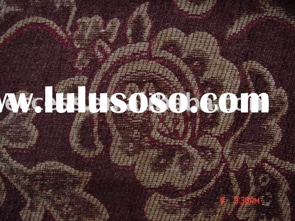 polyester and rayon chenille jacquard fabric