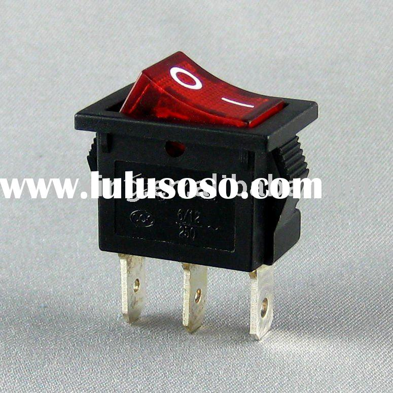 red lighted rocker switch