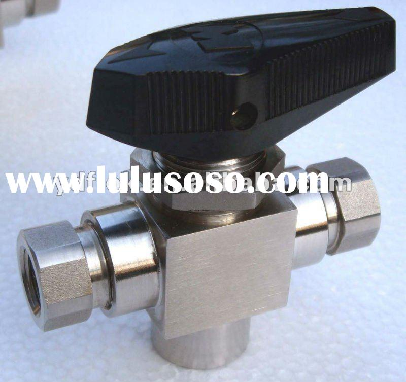 stainless steel 3-way NPT thread ball valve